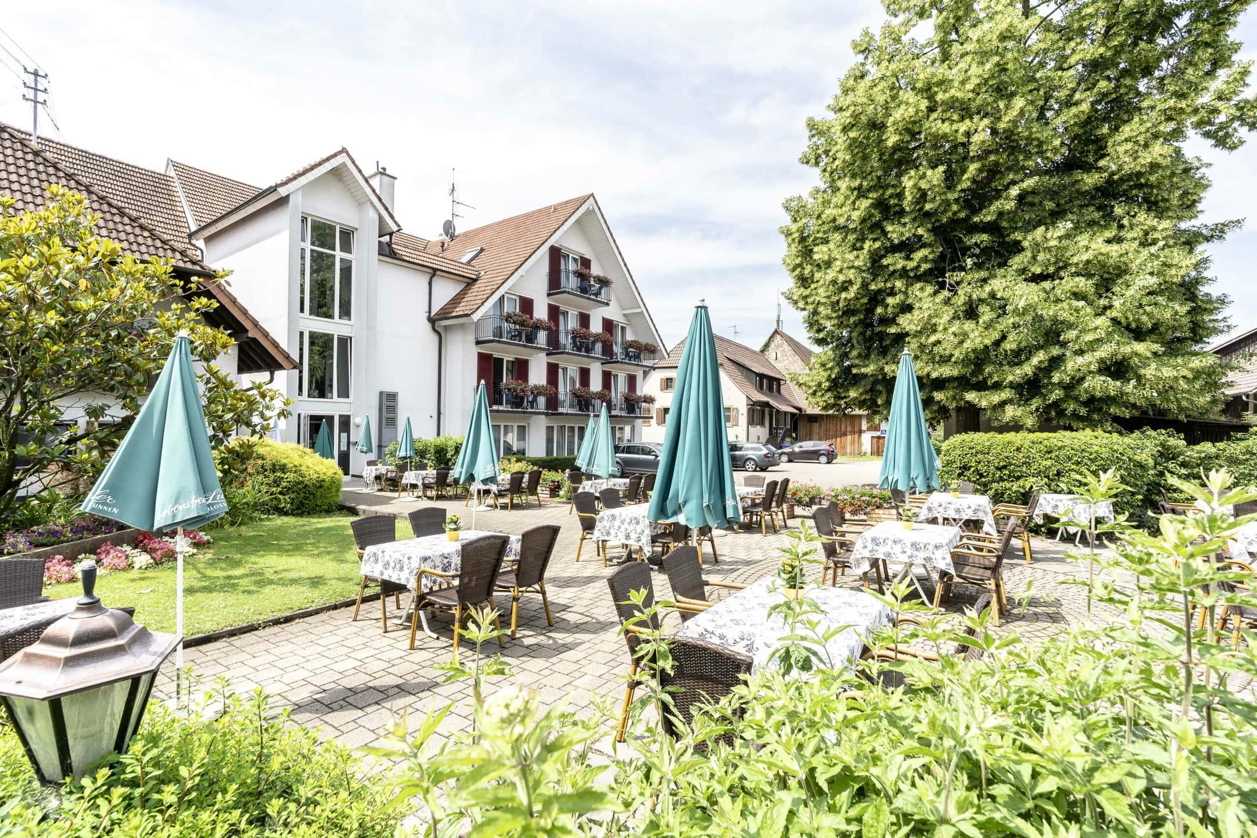 Hotel Gasthaus Loewen Buchholz Terrasse Sonne Haus